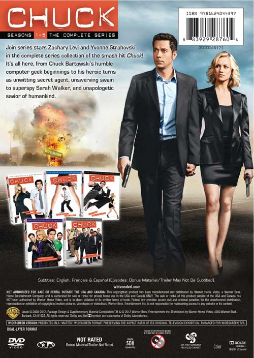 Chuck Complete Series DVD Back Cover