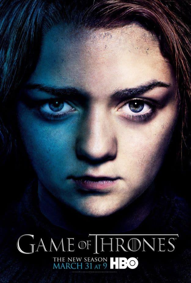Arya Stark Game Of Thrones Season 3 Poster