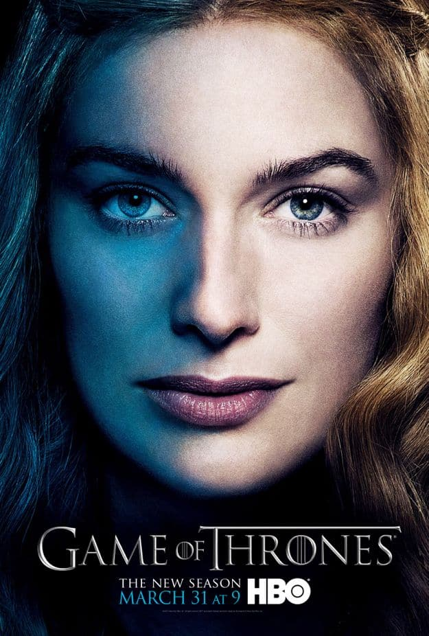 Cersei Lannister Game Of Thrones Season 3 Poster