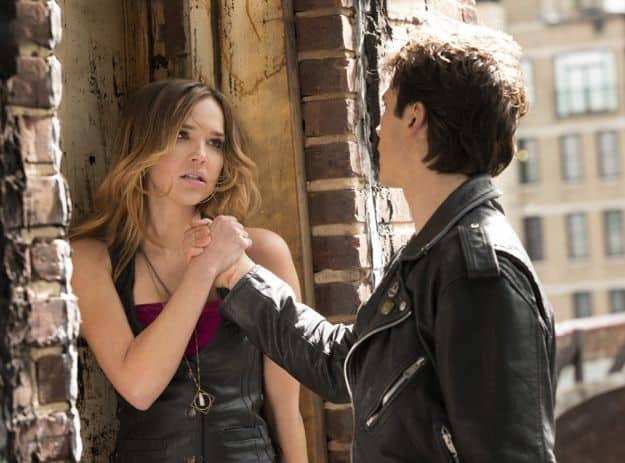 Arielle Kebbel as Lexi and Ian Somerhalder as Damon