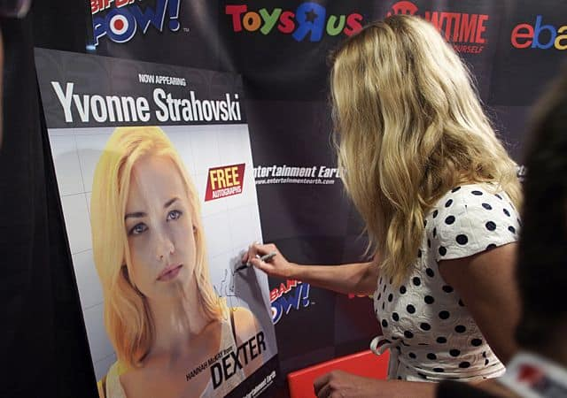 Yvonne Strahovski at the Dexter Panel at COMIC - CON 2013