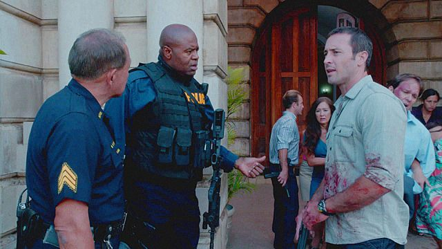 Alex O'Loughlin Chi McBride Hawaii Five 0