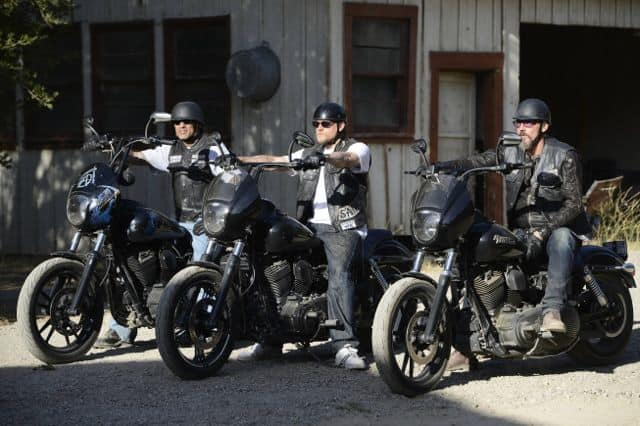 David Labrava as Happy Lowman, Charlie Hunnam as Jackson 'Jax' Teller, Tommy Flanagan as Filip 'Chibs' Telford Sons Of Anarchy