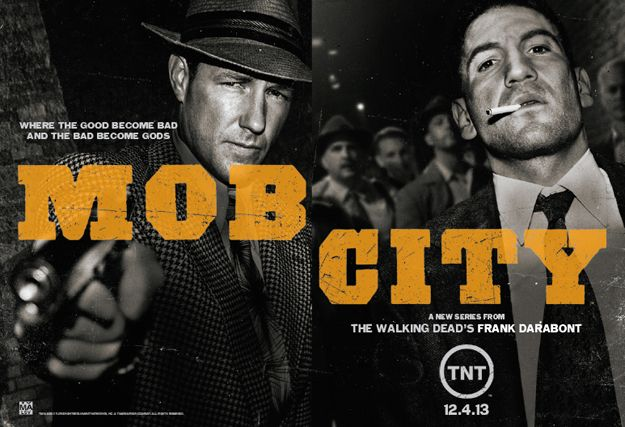 MOB CITY Poster Starring Jon Bernthal, Ed Burns TNT