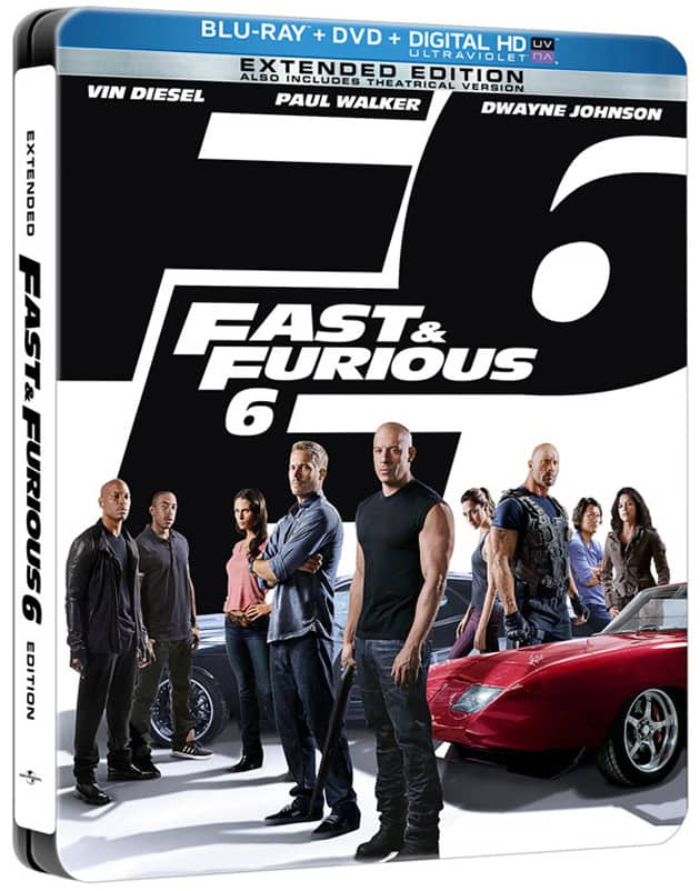 Fast And Furious 6 DVD Bluray Steel Case