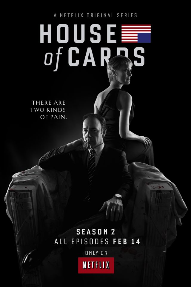 HOUSE OF CARDS Season 2 Poster Netflix Kevin Spacey