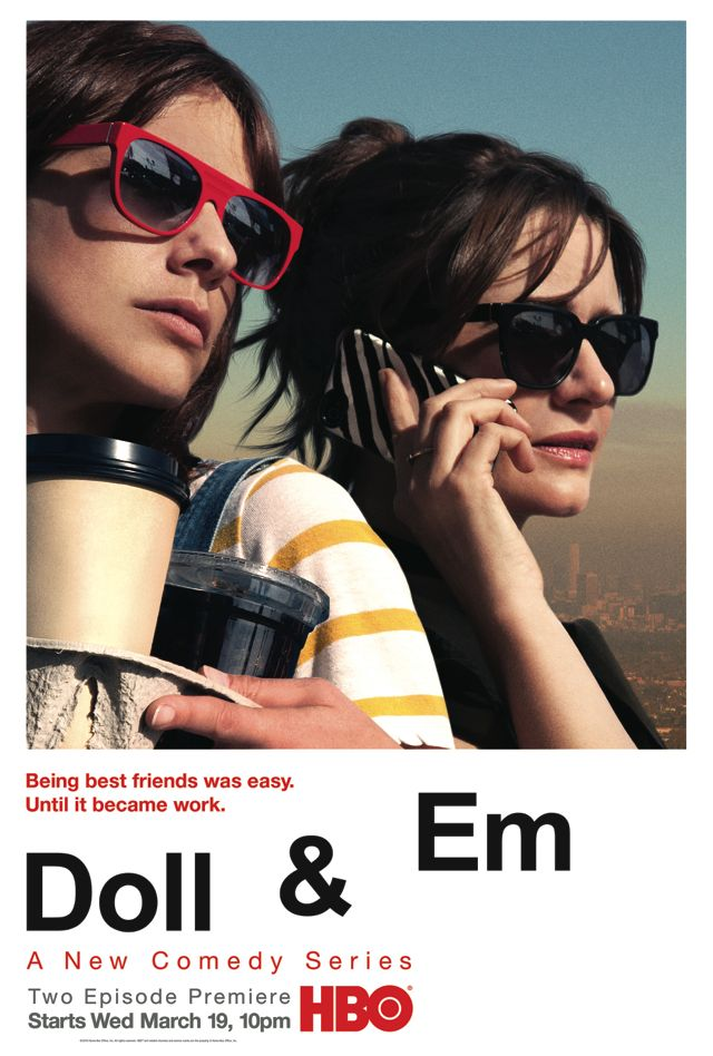 DOLL & EM Poster HBO Emily Mortimer and Dolly Wells