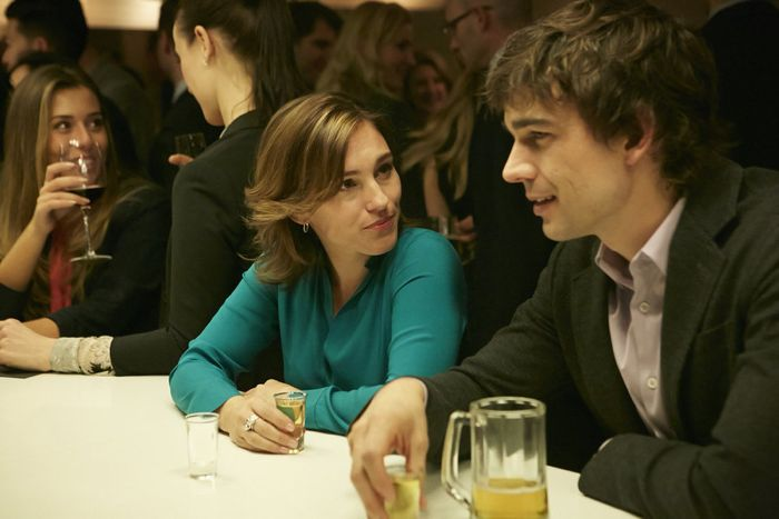 Covert Affairs Season 5 Amy Jo Johnson as Hayley, Christopher Gorham as Auggie Anderson