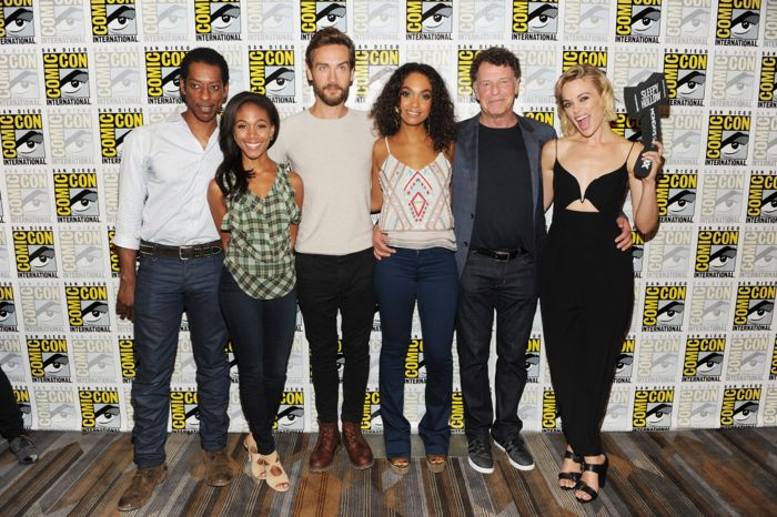 SLEEPY HOLLOW cast members Orlando Jones, Nicole Beharie, Tom Mison, Lindie Greenwood, John Noble and Katia Winter behind the scenes on Friday, July 26 at the FOX FANFARE AT SAN DIEGO COMIC-CON
