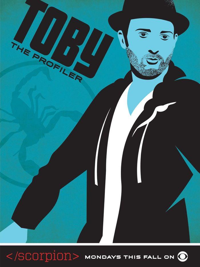Scorpion Comic Con Poster Toby