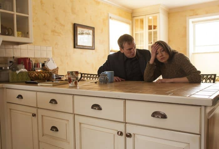 THE LEFTOVERS episode 3: Christopher Eccleston, Carrie Coon. photo: Paul Schiraldi