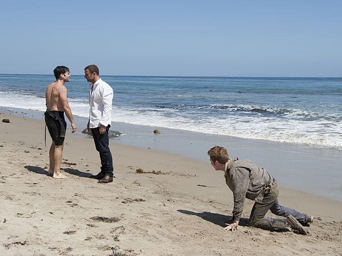 Eion Bailey as Steve Knight, Liev Schreiber as Ray Donovan and Collin Christopher as Robert Lepecka in Ray Donovan (Season 2, Episode 10)