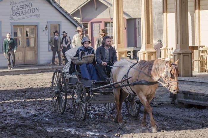 Hell on Wheels Season 4, Episode 3 Mackenzie Porter as Naomi and Anson Mount as Cullen Bohannan