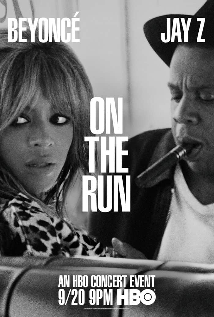 ON THE RUN TOUR BEYONCE AND JAY Z Poster