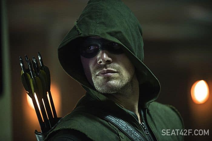Stephen Amell as The Arrow Season 3 The Calm