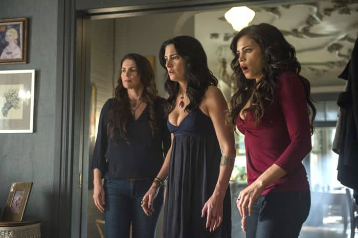 (L-R) Julia Ormond, Madchen Amick and Jenna Dewan Tatum star in an all-new episode of Witches of East End, airing Sunday, September 14, at 9pm ET/PT on Lifetime