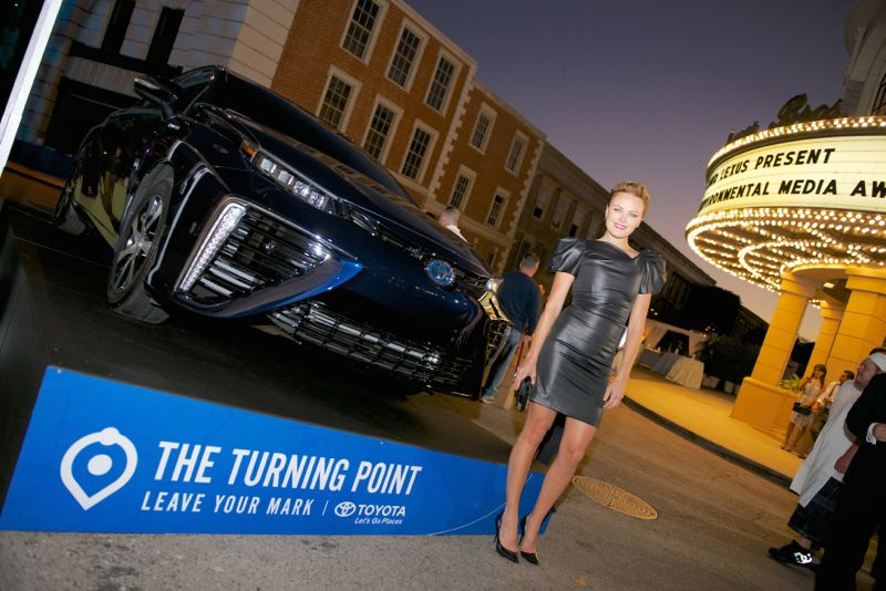 Malin Akerman Toyota Fuel Cell Vehicle [1]