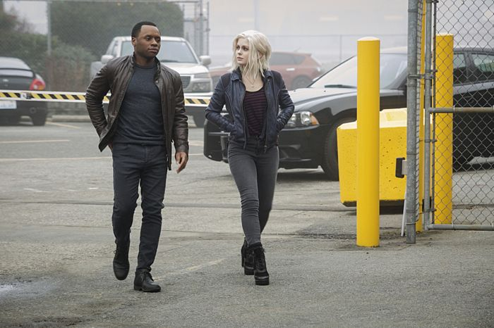 "iZombie -- ""Dead Rat, Live Rat, Brown Rat, White Rat"" -- Image Number: ZMB112A_0002 -- Pictured (L-R): Malcolm Goodwin as Clive Babineaux and Rose McIver as Olivia ""Liv"" Moore -- Photo: Liane Hentscher/The CW -- © 2015 The CW Network, LLC. All rights reserved."