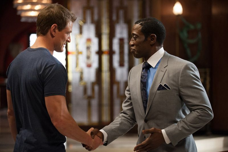 "THE PLAYER -- ""Ante Up"" Episode 101-- Pictured: (l-r) Philip Winchester as Alex, Wesley Snipes as Mr. Johnson -- (Photo by: Colleen Hayes/NBC)"