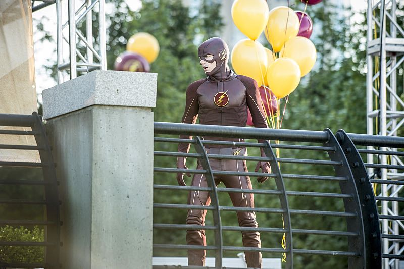 "The Flash -- ""The Man Who Saved Central City"" -- Image FLA201a_0014b -- Pictured: Grant Gustin as The Flash -- Photo: Cate Cameron /The CW -- © 2015 The CW Network, LLC. All rights reserved"