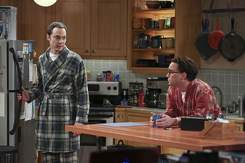 """""""The Separation Oscillation"""" -- Leonard (Johnny Galecki, right) confronts the woman he kissed on the North Sea in an attempt to set Penny's mind at ease. Also, Sheldon (Jim Parsons, left) films a special episode of """"Fun with Flags"""" after his breakup with Amy, on THE BIG BANG THEORY, Monday, Sept. 28 (8:00-8:31 PM, ET/PT), on the CBS Television Network.  Photo: Michael Yarish/Warner Bros. Entertainment Inc. © 2015 WBEI. All rights reserved."""