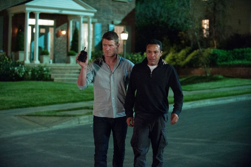 """THE PLAYER -- """"A House is Not a Home"""" Episode 106 -- Pictured: (l-r) Philip Winchester as Alex, Michael Irby as Javier Cruz -- (Photo by: Colleen Hayes/NBC)"""