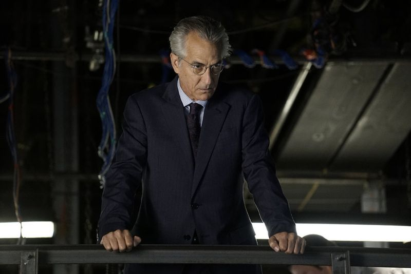 "THE BLACKLIST -- ""Sir Crispin Crandall"" Episode 306 -- Pictured: David Strathairn as The Director -- (Photo by: Peter Kramer/NBC)"