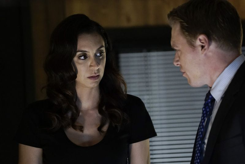 "THE BLACKLIST -- ""Sir Crispin Crandall"" Episode 306 -- Pictured: (l-r) Mozhan Marno as Samar Navabi, Diego Klattenhoff as Donald Ressler -- (Photo by: Peter Kramer/NBC)"