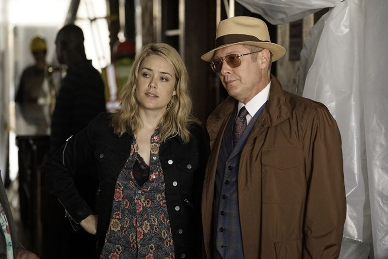"THE BLACKLIST -- ""Sir Crispin Crandall"" Episode 306 -- Pictured: (l-r) Megan Boone as Liz Keen, James Spader as Red Reddington -- (Photo by: Peter Kramer/NBC)"