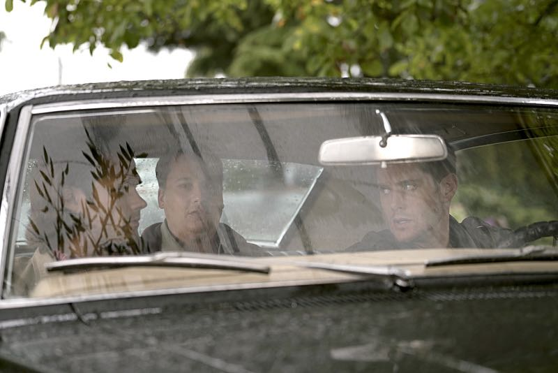 """Supernatural -- """"Thin Lizzie"""" -- Image SN1105b_0100 -- Pictured (L-R): Jared Padalecki as Sam, Jared Gertner as Len and Jensen Ackles as Dean -- Photo: Katie Yu/The CW -- © 2015 The CW Network, LLC. All Rights Reserved."""