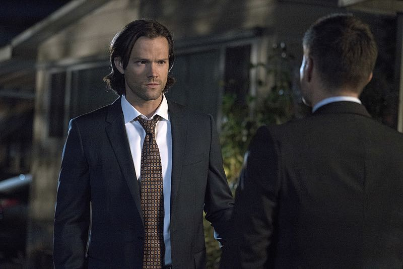 """Supernatural -- """"Thin Lizzie"""" -- Image SN1105a_0278 -- Pictured (L-R): Jared Padalecki as Sam and Jensen Ackles as Dean -- Photo: Katie Yu/The CW -- © 2015 The CW Network, LLC. All Rights Reserved."""