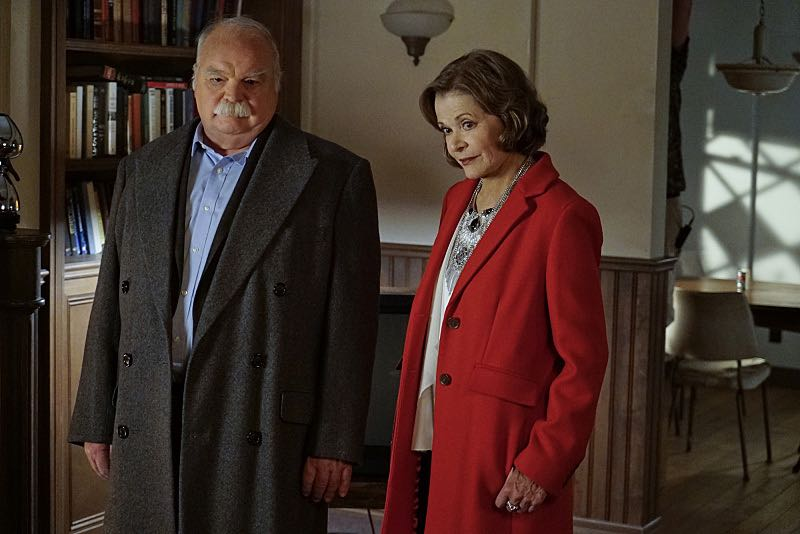 """16 Years"" -- The NCIS murder case of a retired Navy Lieutenant Commander forces Ducky to reveal his participation in a secret society that solves cold cases, on NCIS, Tuesday, Nov. 3 (8:00-9:00 PM, ET/PT), on the CBS Television Network. Pictured left to right: Richard Riehle and Jessica Walter Photo: Cliff Lipson/CBS ©2015 CBS Broadcasting, Inc. All Rights Reserved"