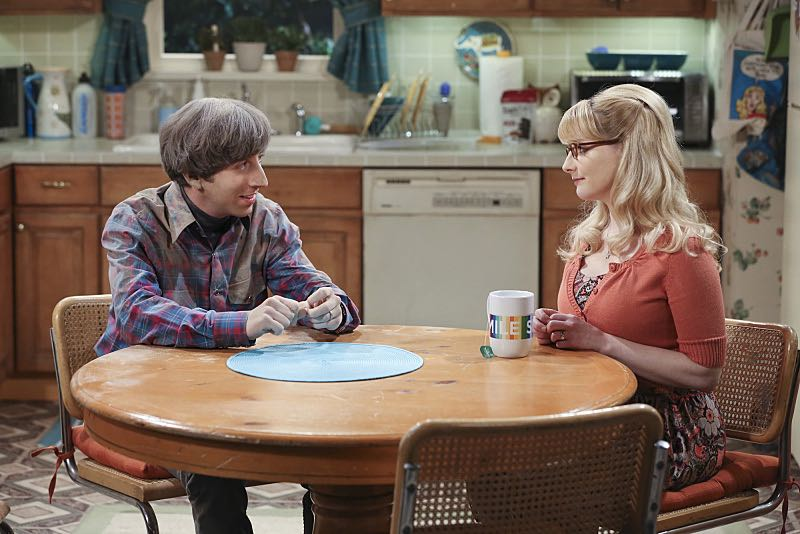 """""""The Spock Resonance"""" -- Wolowitz (Simon Helberg , left) and Bernadette (Melissa Rauch, right) butt heads over remodeling his childhood home, on THE BIG BANG THEORY, Thursday, Nov. 5 (8:00-8:31 PM, ET/PT), on the CBS Television Network. Photo: Michael Yarish/Warner Bros. Entertainment Inc. © 2015 WBEI. All rights reserved."""