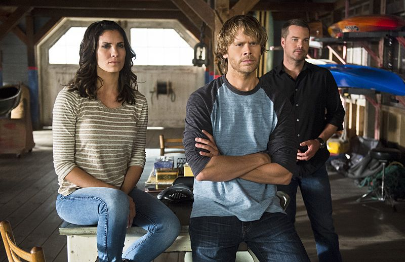 """""""Unspoken"""" -- Pictured: Daniela Ruah (Special Agent Kensi Blye), Eric Christian Olsen (LAPD Liaison Marty Deeks) and Chris O'Donnell (Special Agent G. Callen). The team searches for Sam's former partner, Ruiz (Anthony Ruivivar), who disappears while buying a deadly explosive during an undercover operation, on NCIS: LOS ANGELES, Monday, Nov. 2 (10:00-11:00, ET/PT), on the CBS Television Network. Photo: Neil Jacobs/CBS ©2015 CBS Broadcasting, Inc. All Rights Reserved."""