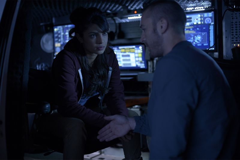 "QUANTICO - ""God"" - The NATs learn surveillance by putting it into practice with Miranda and her troubled son, Charlie. Shelby tries to keep Caleb at a distance, but Raina opens the door to a closer relationship with Simon. In the future, Alex is helped when she tries to hack into an FBI computer, on ""Quantico,"" SUNDAY, NOVEMBER 1 (10:01-11:00 p.m., ET) on the ABC Television Network. (ABC/Phillippe Bosse) PRIYANKA CHOPRA, JAKE MCLAUGHLIN"