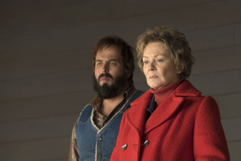 """FARGO -- """"The Myth of Sisyphus"""" -- Episode 203 (Airs October 26, 10:00 pm e/p) Pictured: (l-r) Angus Sampson as Bear Gerhardt, Jean Smart as Floyd Gerhardt. CR: Chris Large/FX"""