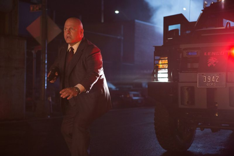 """GOTHAM: L-R: Michael Chiklis in the """"Rise of the Villains: By Fire"""" episode of GOTHAM airing Monday, Oct. 26 (8:00-9:00 PM ET/PT) on FOX. ©2015 Fox Broadcasting Co. Cr: Jessica Miglio/ FOX."""