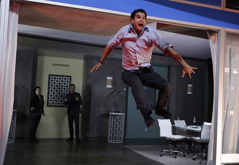 """""""Tech, Drugs, and Rock 'n Roll"""" -- Walter's attempt to 'normalize' goes horribly wrong when a nefarious virus is loaded onto his computer, turning Team Scorpion's new 'smart' building project into a burning death trap with people locked inside, on a special 90 minute episode of SCORPION, Monday October 26 (9:30-11:00 PM, ET/PT) on the CBS Television Network. Pictured: Elyes Gabel as Walter O'Brien. Photo: Sonja Flemming/CBS ©2015 CBS Broadcasting, Inc. All Rights Reserved"""