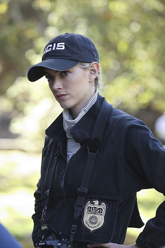 """""""Viral"""" -- When a petty officer's murder matches the M.O. of a local serial killer, the NCIS team must determine if this is the killer's latest victim or the work of a copycat, on NCIS, Tuesday, Oct. 27 (8:00-9:00 PM, ET/PT), on the CBS Television Network. Pictured: Emily Wickersham Photo: Monty Brinton/CBS ©2015 CBS Broadcasting, Inc. All Rights Reserved"""
