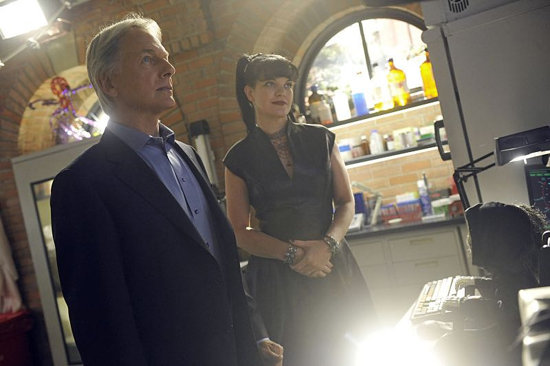 """""""Viral"""" -- When a petty officer's murder matches the M.O. of a local serial killer, the NCIS team must determine if this is the killer's latest victim or the work of a copycat, on NCIS, Tuesday, Oct. 27 (8:00-9:00 PM, ET/PT), on the CBS Television Network. Pictured left to right: Mark Harmon and Pauley Perrette Photo: Darren Michaels/CBS ©2015 CBS Broadcasting, Inc. All Rights Reserved"""