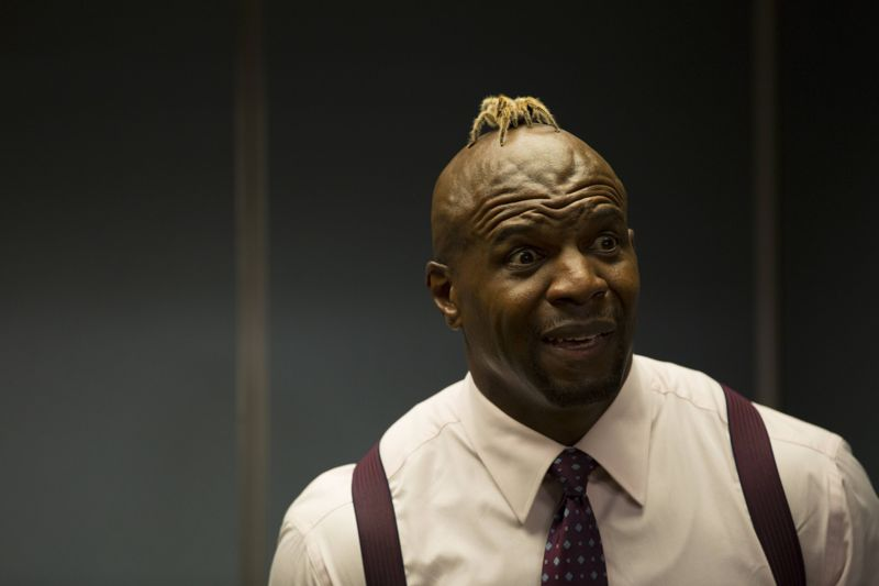 "BROOKLYN NINE-NINE: Sgt. Jeffords (Terry Crews) in the ""Boyle's Hunch"" episode of BROOKLYN NINE-NINE airing Sunday, Oct. 4 (8:30-9:00 PM ET/PT) on FOX. ©2015 Fox Broadcasting Co. CR: John P Fleenor/FOX."