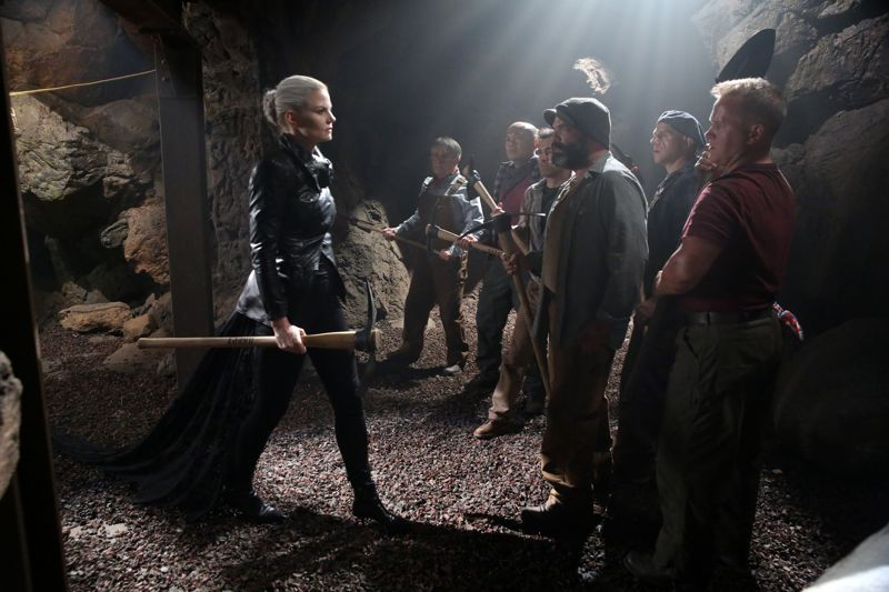 "ONCE UPON A TIME - ""Siege Perilous"" - In Camelot, the heroes feverishly work to free Merlin. Determined to help Emma, David embarks on a quest to retrieve a magical relic that Regina could use to communicate with the imprisoned sorcerer, but, when David leaves, Arthur insists on joining him because the dangers ahead are greater than he can imagine. Meanwhile, Mary Margaret discovers the fate of her old friend Lancelot. Back in Storybrooke, Arthur seeks David's help to catch a thief who threatens the safety of the citizens of Camelot. Across town, Emma reaches out to a conflicted Hook as she sets about her plan to draw Excalibur from the stone, on ""Once Upon a Time,"" SUNDAY, OCTOBER 11 (8:00-9:00 p.m., ET) on the ABC Television Network. (ABC/Jack Rowand) JENNIFER MORRISON, DAVID-PAUL GROVE, MIG MACARIO, GABE KHOUTH, LEE ARENBERG, FAUSTINO DI BAUDA, MICHAEL COLEMAN"