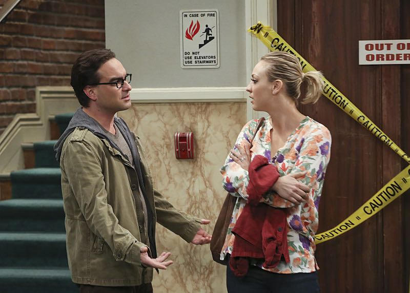"""""""The Mystery Date Observation"""" -- When Amy is coy with details about a guy she is dating, Penny and Bernadette decide to spy, on THE BIG BANG THEORY, Thursday, Nov. 12 (8:00-8:31 PM, ET/PT), on the CBS Television Network. Pictured left to right: Johnny Galecki and Kaley Cuoco Photo: Michael Yarish/Warner Bros. Entertainment Inc. © 2015 WBEI. All rights reserved."""