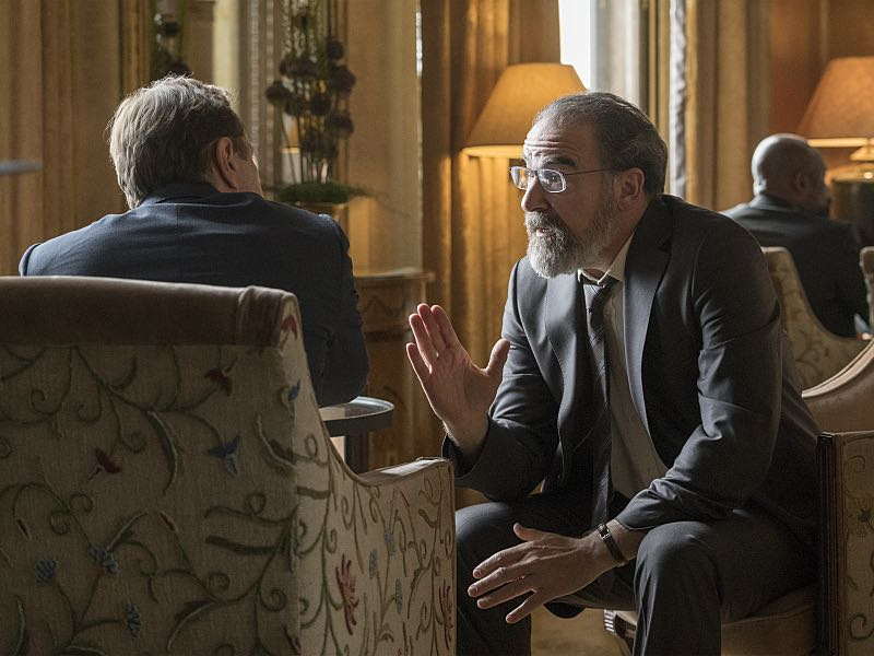 Sebastian Koch as Otto During and Mandy Patinkin as Saul Berenson in Homeland (Season 5, Episode 6). - Photo: Stephan Rabold/SHOWTIME - Photo ID: Homeland_506_4587.R