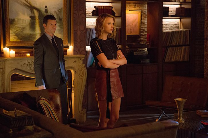 """The Originals -- """"A Streetcar Named Desire"""" -- Image Number: OG314b_0147.jpg -- Pictured (L-R): Daniel Gillies as Elijah and Riley Voelkel as Freya -- Photo: Annette Brown/The CW -- © 2016 The CW Network, LLC. All rights reserved."""