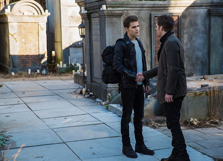 """The Originals -- """"A Streetcar Named Desire"""" -- Image Number: OG314b_0024.jpg -- Pictured (L-R): Paul Wesley as Stefan and Joseph Morgan as Klaus -- Photo: Annette Brown/The CW -- © 2016 The CW Network, LLC. All rights reserved."""