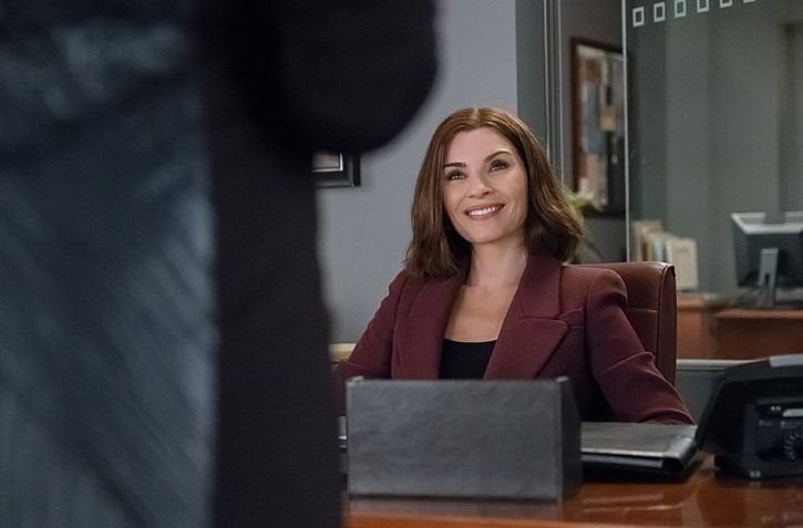 """Targets"" -- Alicia joins a secret panel of attorneys advising the U.S. government on a controversial case. Also, Eli hires Elsbeth Tascioni (Carrie Preston) to uncover why the FBI is targeting Peter, on THE GOOD WIFE, Sunday, Feb. 21 (9:00-10:00 PM, ET/PT) on the CBS Television Network. Julianna Margulies as Alicia Florrick  Photo:  Jeff Neumann/CBS ©2015 CBS Broadcasting, Inc. All Rights Reserved"