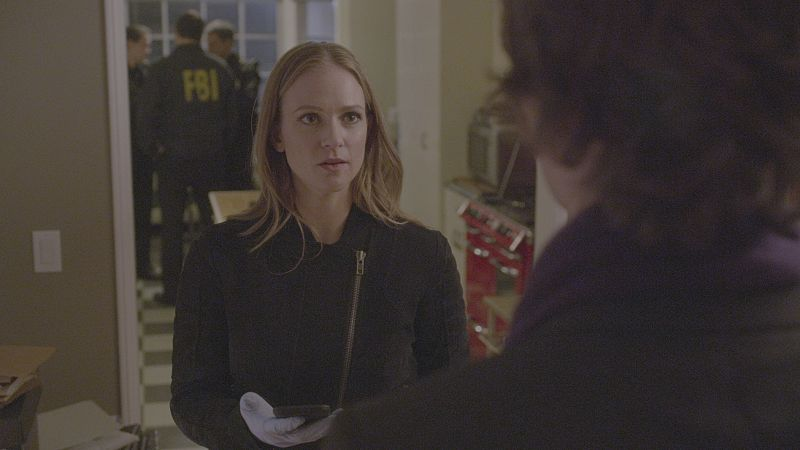 """""""A Badge and a Gun"""" -- The BAU searches Los Angeles after the team discovers security footage that shows an UnSub being invited into victims' homes, on CRIMINAL MINDS, Wednesday, Feb. 24 (9:00-10:00 PM, ET/PT) on the CBS Television Network. Marisol Nichols returns as Agent Natalie Colfax. Carmine Giovinazzo (""""CSI: NY"""") guest stars as Andrew Meeks, a former janitor. Photo: CBS ©2015 CBS Broadcasting, Inc. All Rights Reserved"""