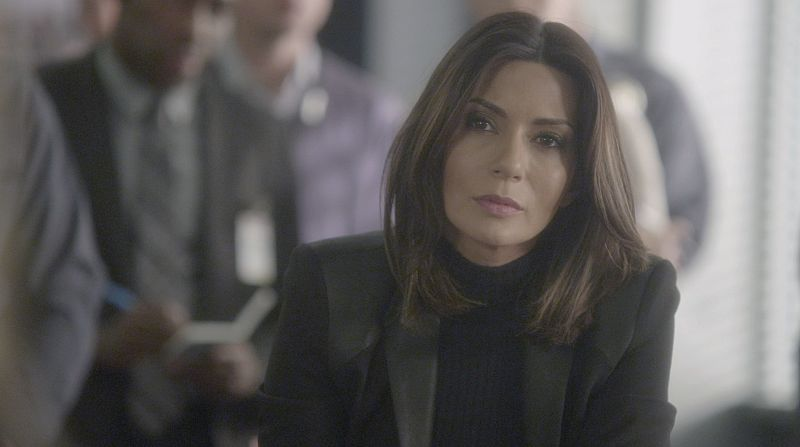 """""""A Badge and a Gun"""" -- The BAU searches Los Angeles after the team discovers security footage that shows an UnSub being invited into victims' homes, on CRIMINAL MINDS, Wednesday, Feb. 24 (9:00-10:00 PM, ET/PT) on the CBS Television Network. Pictured: Marisol Nichols returns as Agent Natalie Colfax. Photo: CBS ©2015 CBS Broadcasting, Inc. All Rights Reserved"""