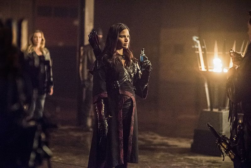 """Arrow -- """"Sins of the Father"""" -- Image AR413b_0379b.jpg -- Pictured: Katrina Law as Nyssa al Ghul -- Photo: Dean Buscher/ The CW -- © 2016 The CW Network, LLC. All Rights Reserved."""